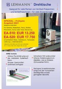 Lehmann Drehtische Sonderaktion Flyer